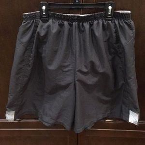 Men's Grey Nike Running Shorts - Large